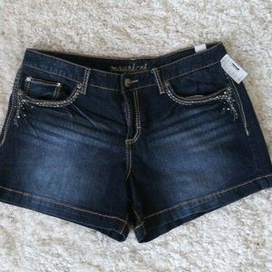 Maurices Womens junior Jean Shorts Size 13/14
